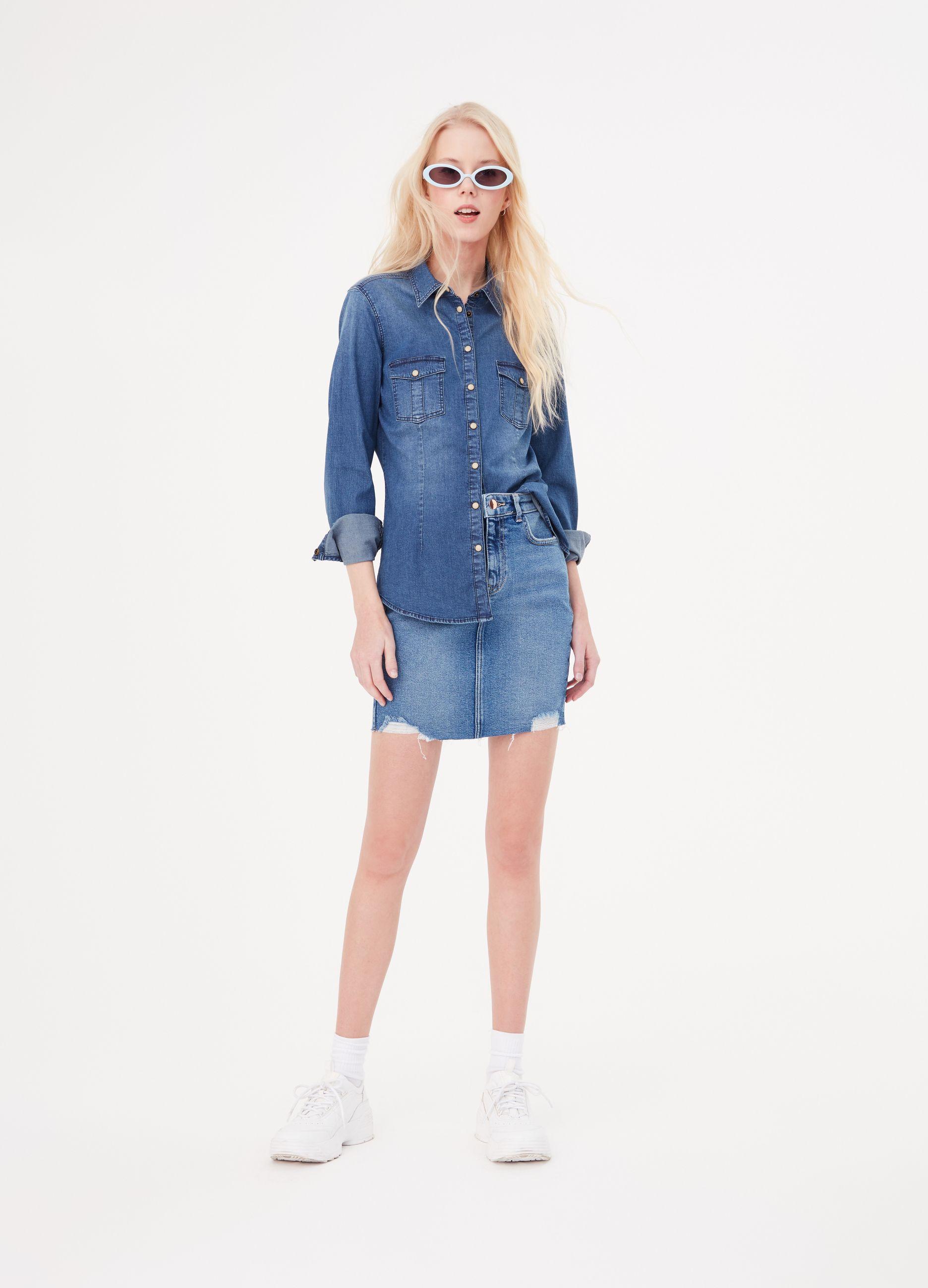 fa8830f9b7d4 Camicia di jeans BCI tinta unita
