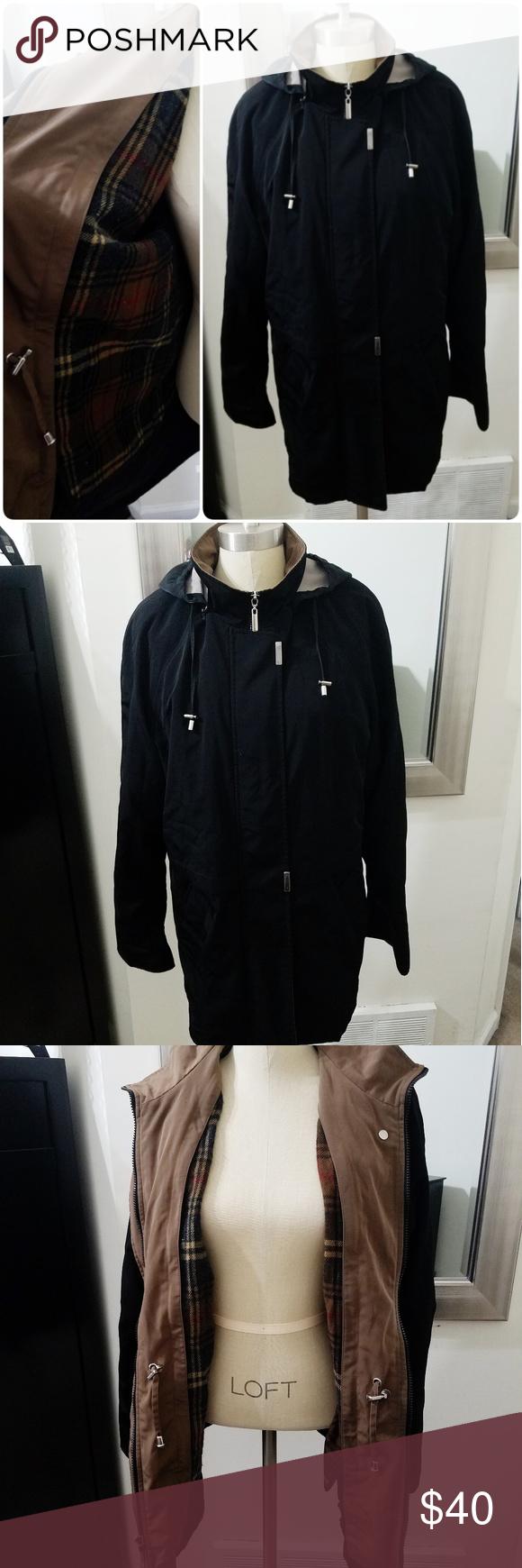 Braetan Zip Out Plaid Lining Hooded Rain Jacket Hooded Rain Jacket Jackets Clothes Design
