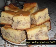 Заливной пирог с рыбной консервой/Сайт с пошаговыми рецептами с фото для тех кто любит готовить
