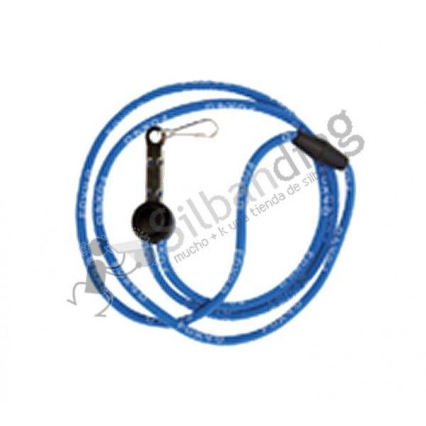 El Cordón para silbatos Fox40 Breakaway de color azul está creado en tejido de nylon e incluye grabado el logotipo de la marca Fox-40. Tiene 90cm de largada e incluye un deslizante ajustable asi como un ajuste de seguridad alrededor del cuello. Es ideal tanto para conectar un silbato Fox-40 como un silbato ACME.