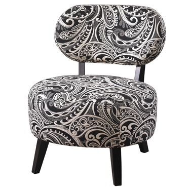 black and white paisley accent chair antique rocking leather seat powell in 2018 collection pinterest
