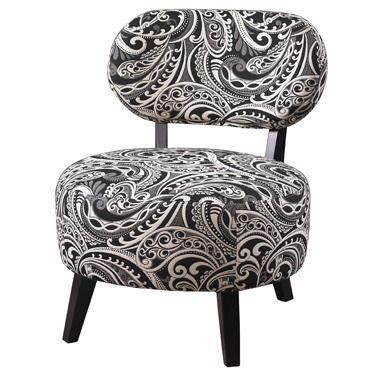 Powell Black Paisley Chair