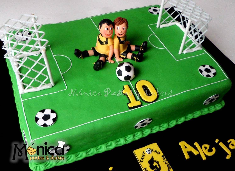Torta de futbol para ni os que cumplen 10 a os con - Cumpleanos para ninos de 10 anos ...