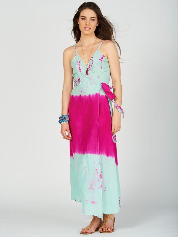 Silk wrap dress Anna Kosturova DlAlEIO