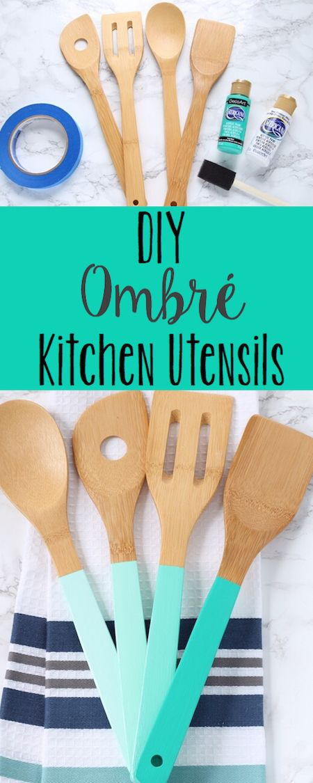 DIY Ombre Kitchen Utensils   Lydi Out Loud