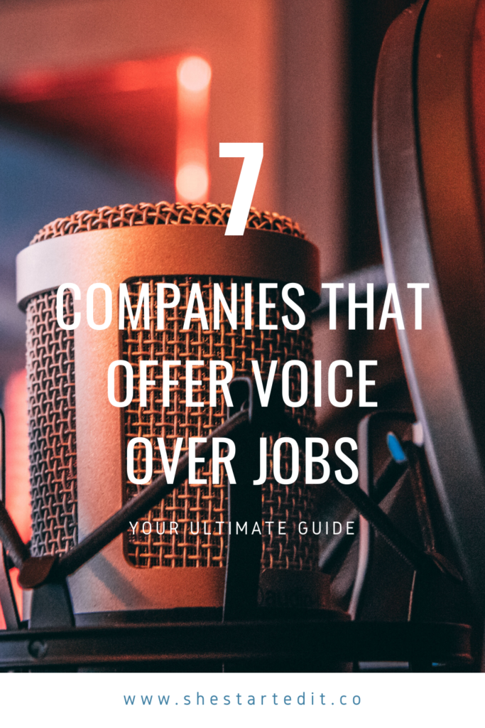 7 Sites Where You Can Find Voice Over Jobs - She S