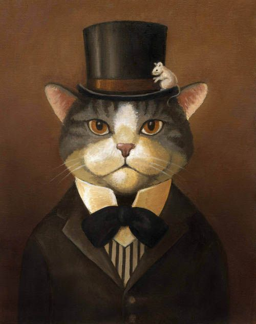 14,chats en peinture