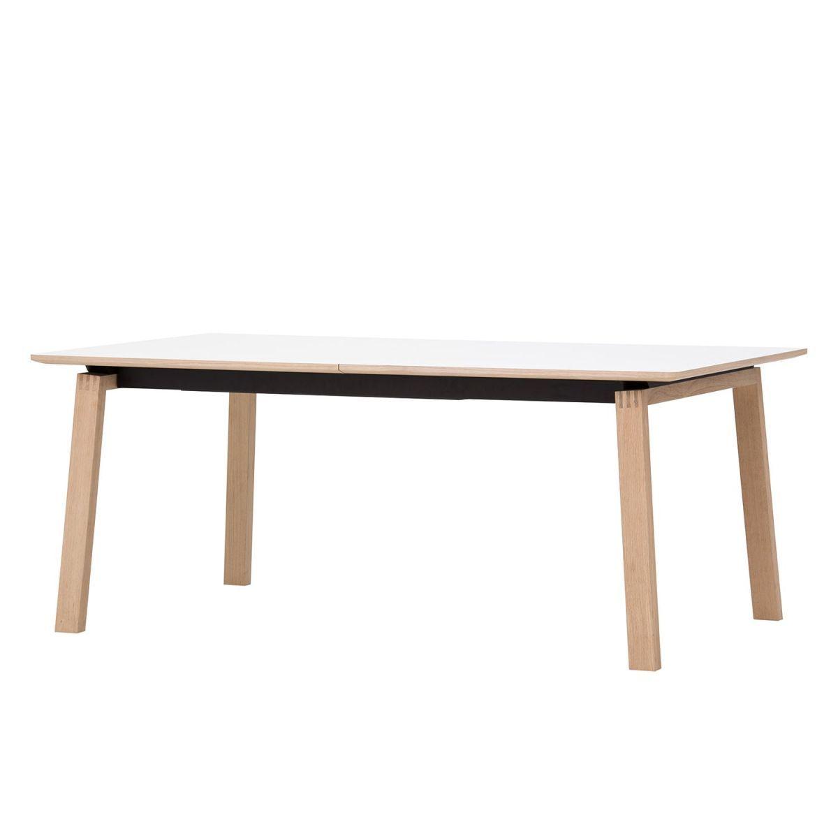 Esstisch Stig II - Weiß / Eiche - 180 x 100 cm | Küche und Esszimmer ...