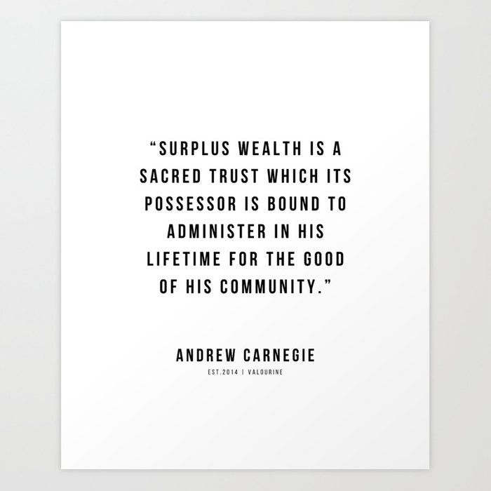 54 |Andrew Carnegie Quotes | 21010 | Motivational Inspirational Success Quote Personal Development Business Coach Art Print by Wordz