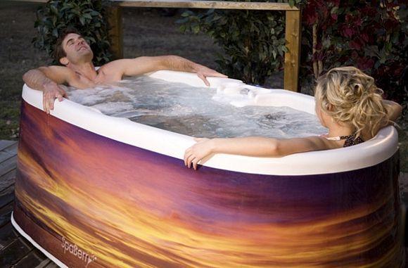 Spaberry Portable Hot Tubs Let You Plug And Soak Inspires Suggestive Faces Portable Hot Tub Hot Tub Tub
