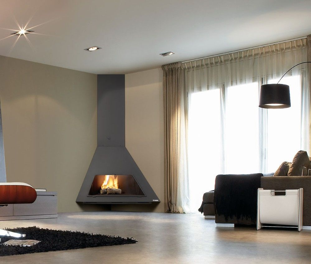 30 chimeneas de dise o chimeneas ideas tips idea for Diseno de estufas hogar a lena