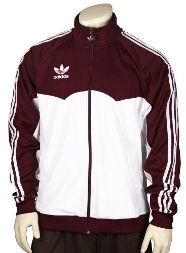 Adidas Men s Lightweight Track, Warmup Jacket, Maroon and White  34.95 d89ee667ce27