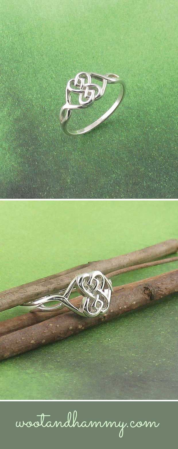 Double Heart Celtic Knot Ring Celtic Heart Knot Rings And Symbols