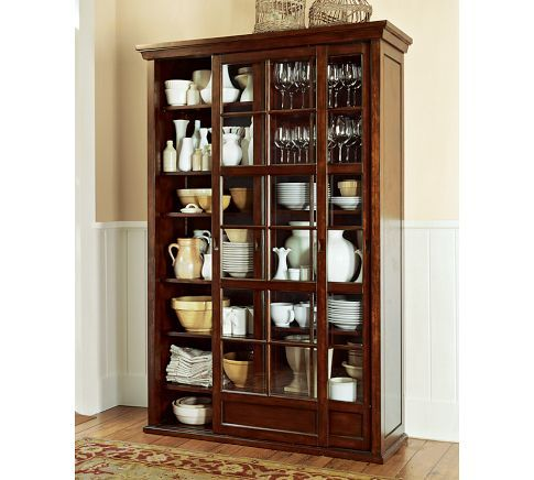 Gl Cabinets With Dinnerware And Serving Collections