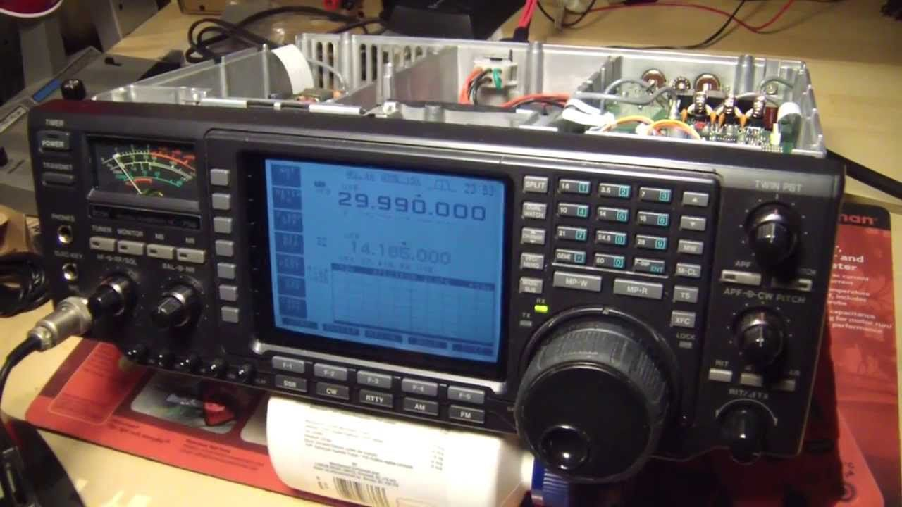 ICOM 756 HF radio, TX problems, inspection and repair, Part