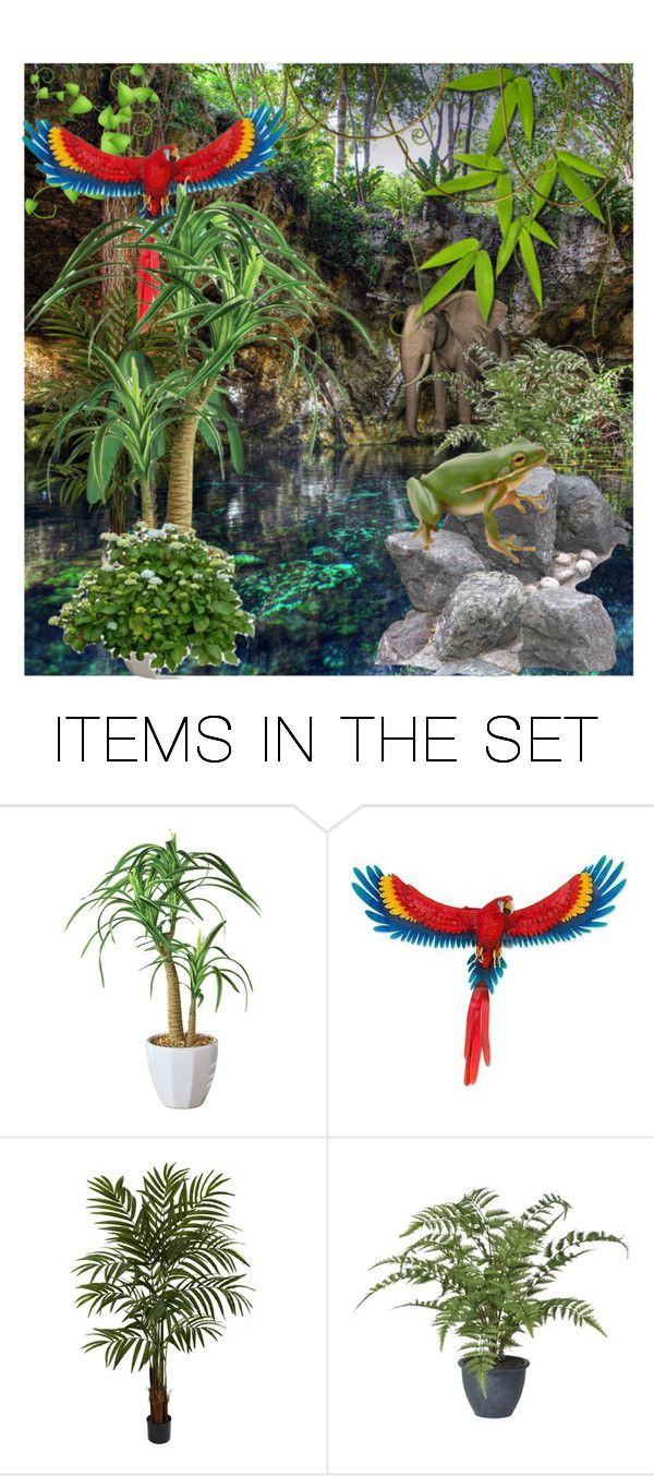 """Jungle Cave"" by mo-g-v ❤ liked on Polyvore featuring art"