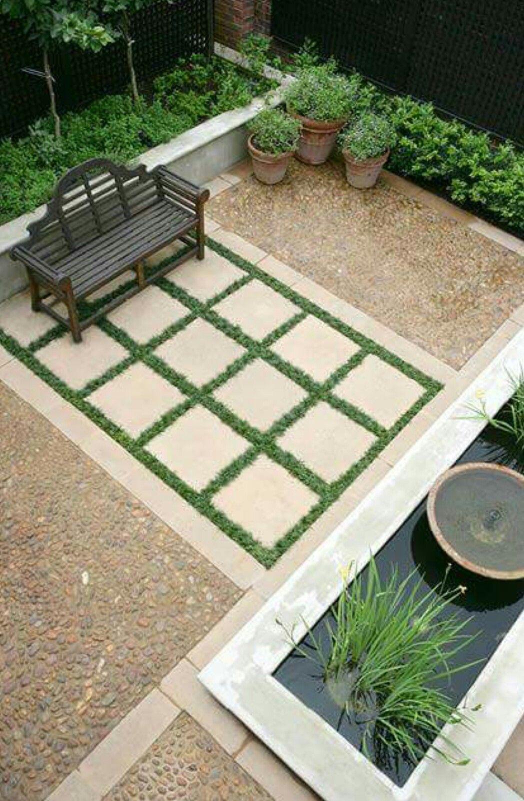 Pin by deborah todd on bg outdoor dise o de jardin - Estanque terraza piso ...