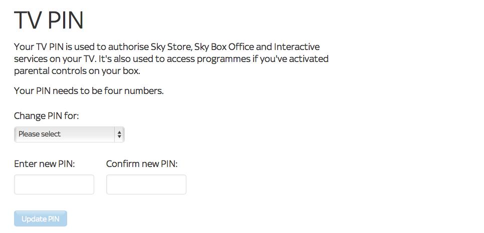 How To Retrieve My Sky Tv Pin With Images Sky Tv Sky