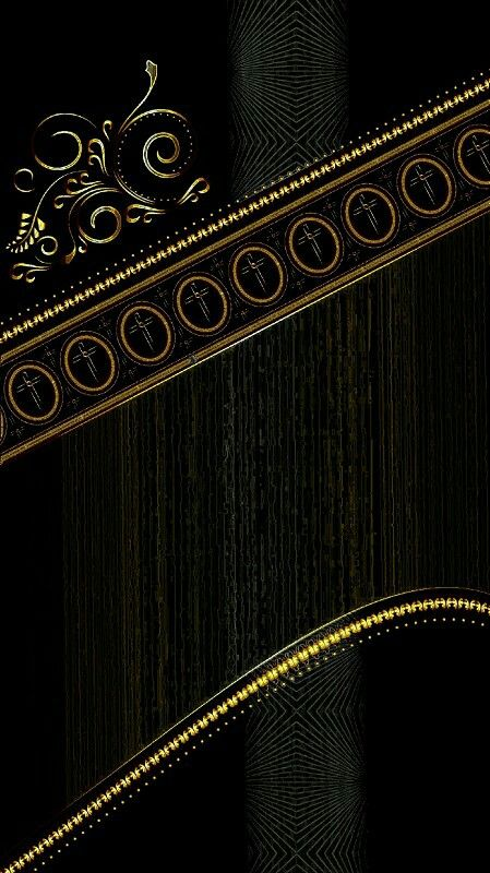 Black Gold Scroll Phone Background Wallpaper Inspirasional Black wallpaper borders for bedrooms