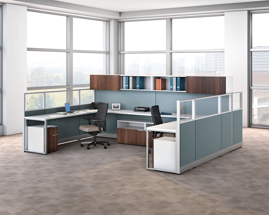 Voi Desking Now Comes In Veneer Learn More At Our Office Furniture Solutions Including Cha Office Workstations Office Furniture Solutions Hon Office Furniture