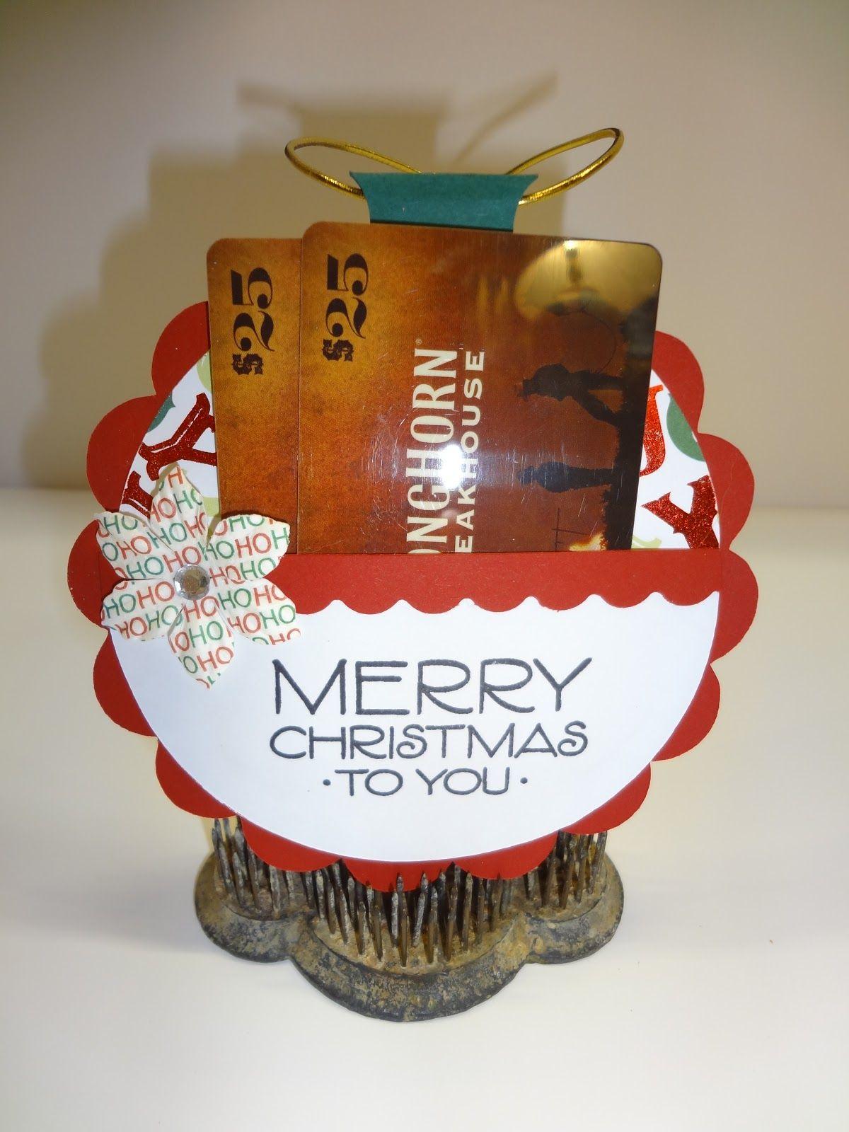 Cricut christmas gift card holders