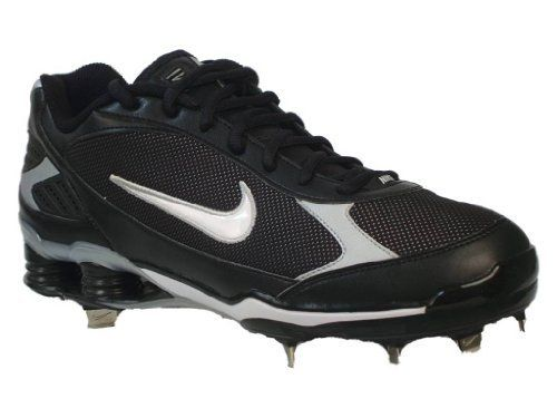 $126.00 Nike Shox Fuse Metal Cleat Baseball Men\u0027s Sneakers Style#  317029-011 (Mens