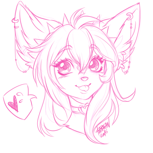 PolloChan My paid batch of head shot sketches that I