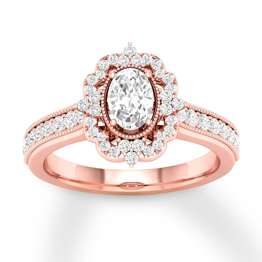 10k or 14k Rose Gold Three Stone Marquise CZ Promise Ring with Round Cut Accents