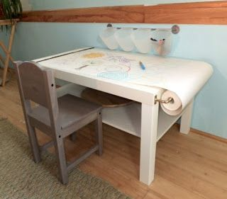 DIY arts craft table for kids IKEA HACK Handcrafted Goodness