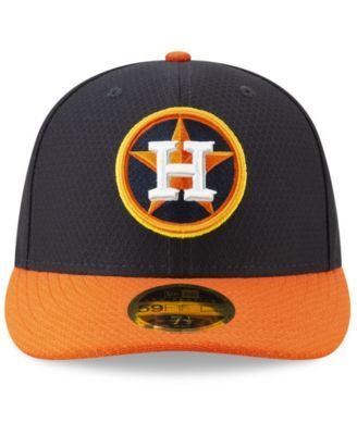 separation shoes 1418d d22e7 New Era Houston Astros Batting Practice Low Profile 59FIFTY-fitted Cap -  Navy Orange 7 1 2