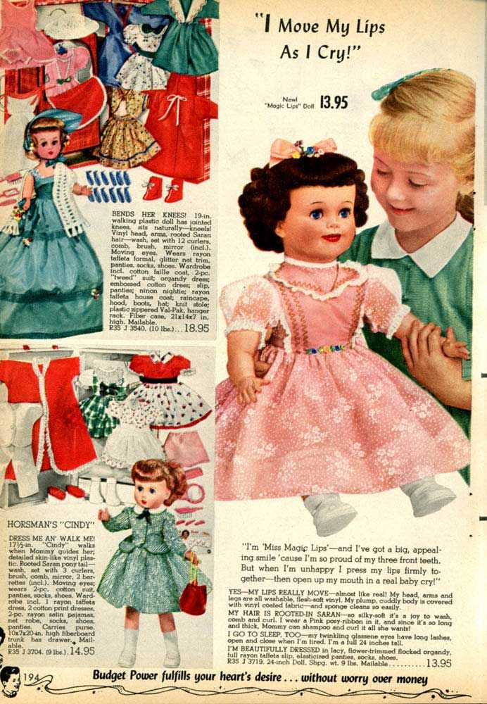 1950 Christmas Toys For Boys : Vintage baby dolls from a spiegel catalog s