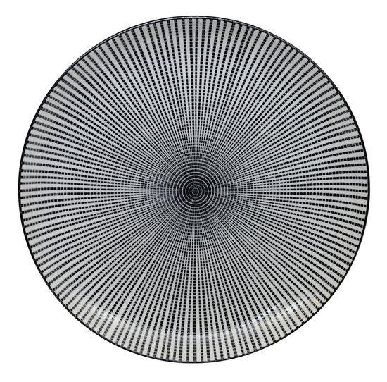 Tokyo Design Studio Sendan Tokusa Black Bord Ø 25 cm