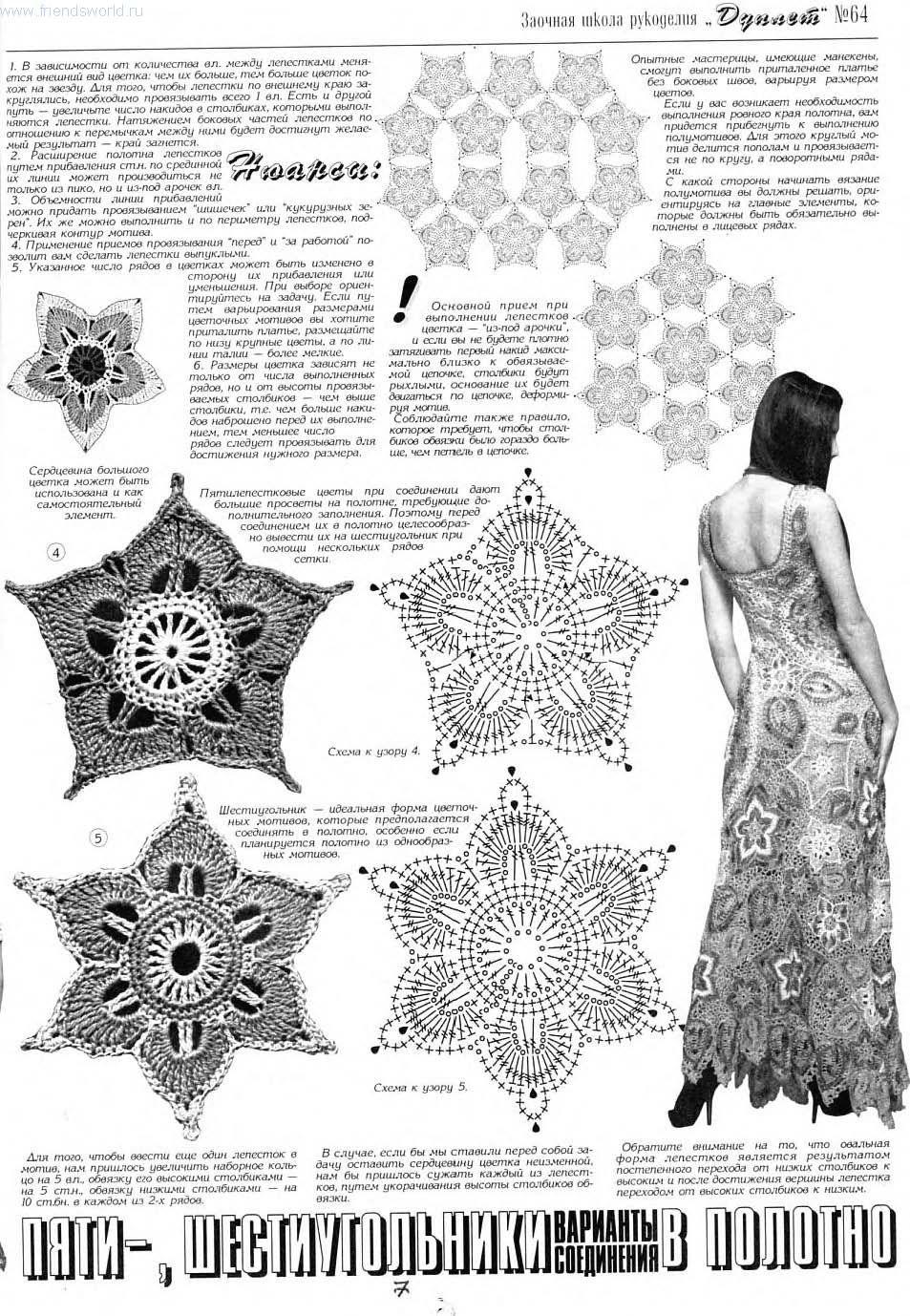 Butterfly Creaciones: revista rusa de vestidos 64   vestidos crochet ...