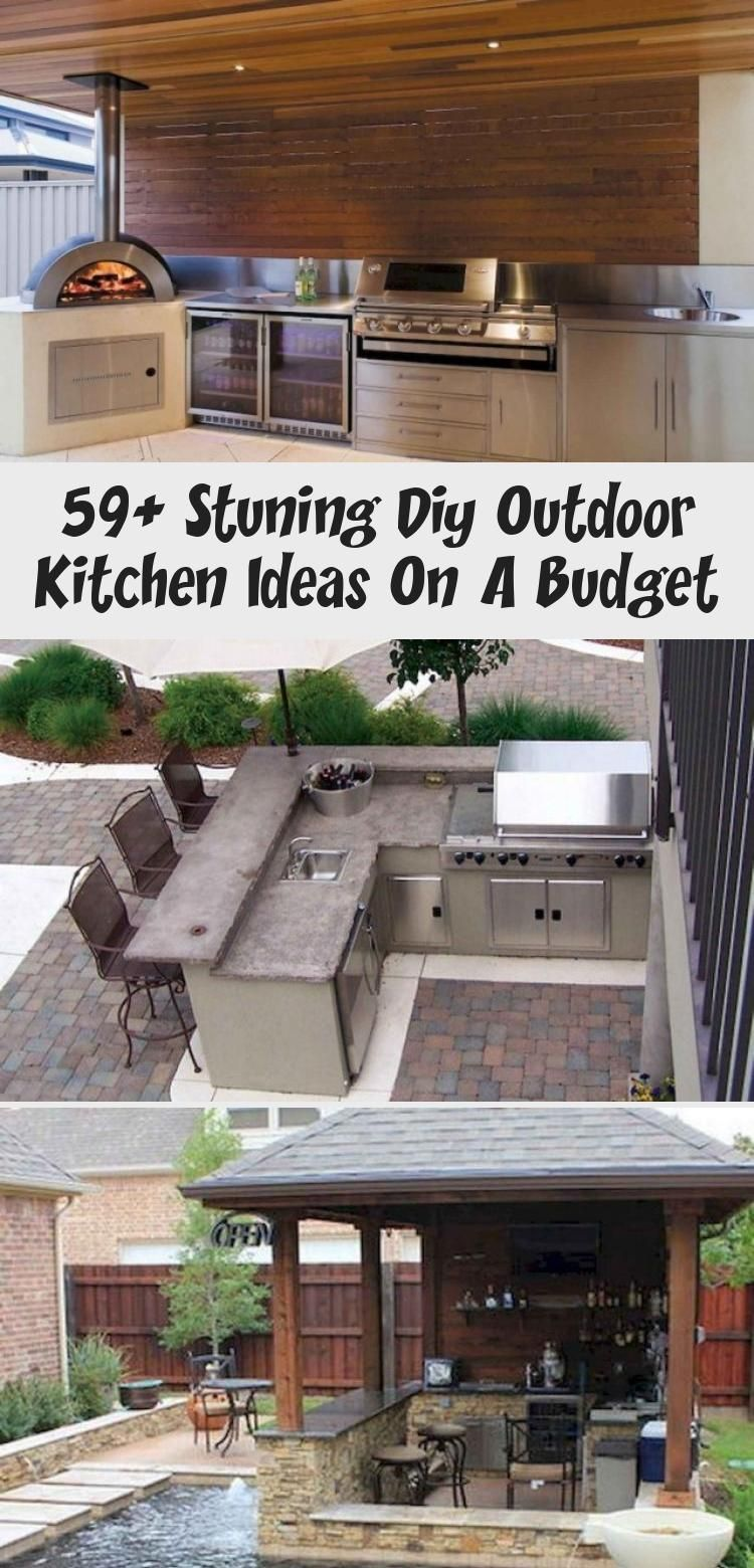 Outdoor Patio Ideas On A Budget Simple Outdoor Patio Ideas On A Budget In 2020 Diy Outdoor Kitchen Covered Outdoor Kitchens Modern Outdoor Kitchen