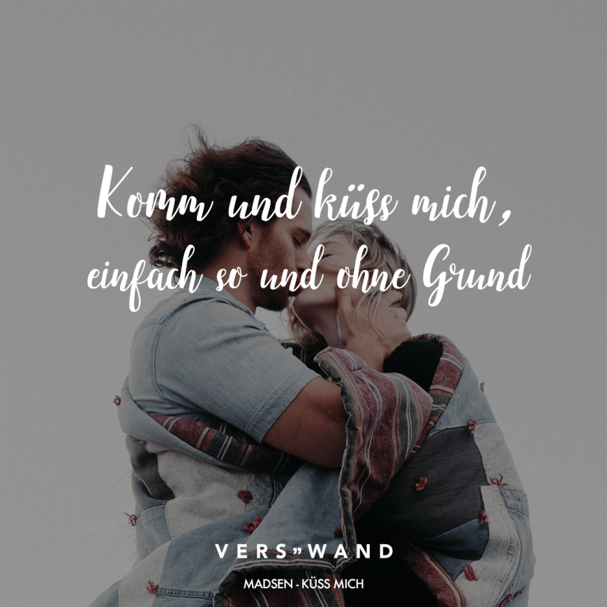 Kuss für dich spruch
