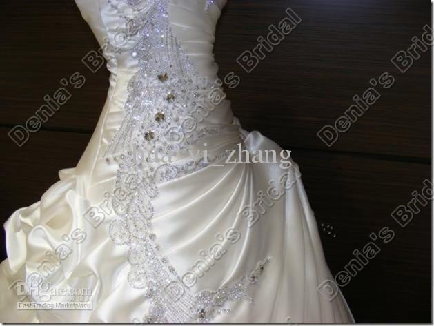 2013 crystal wedding dress hot selling luxury peacock