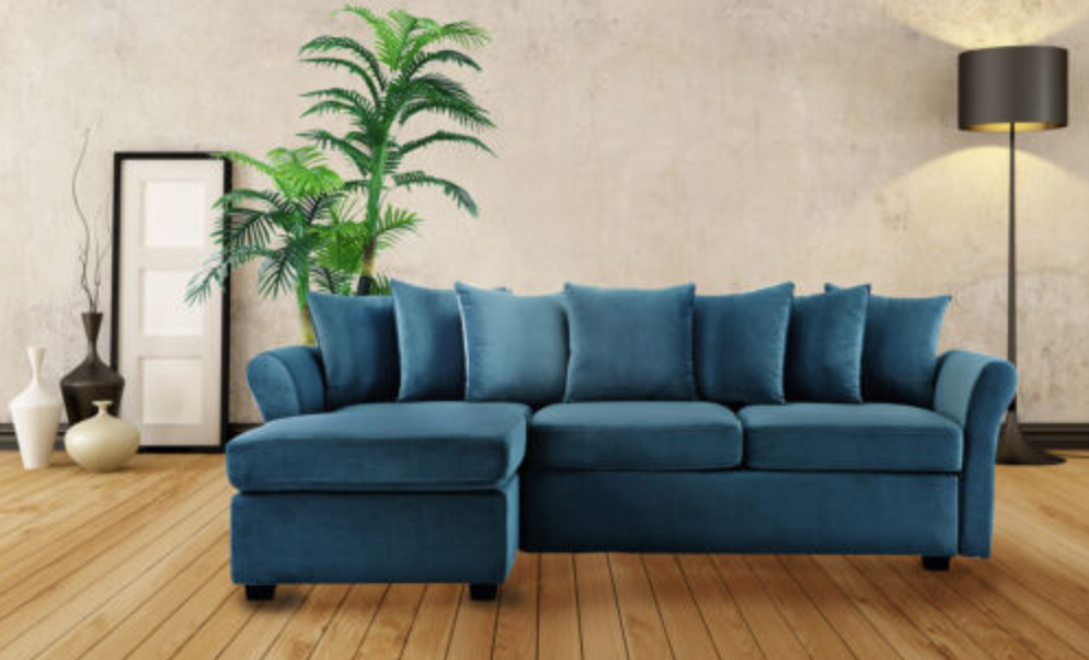 Classic Velvet Sectional Sofa Velvet Sectional Comfortable Sectional Sofa Small Couch With Chaise