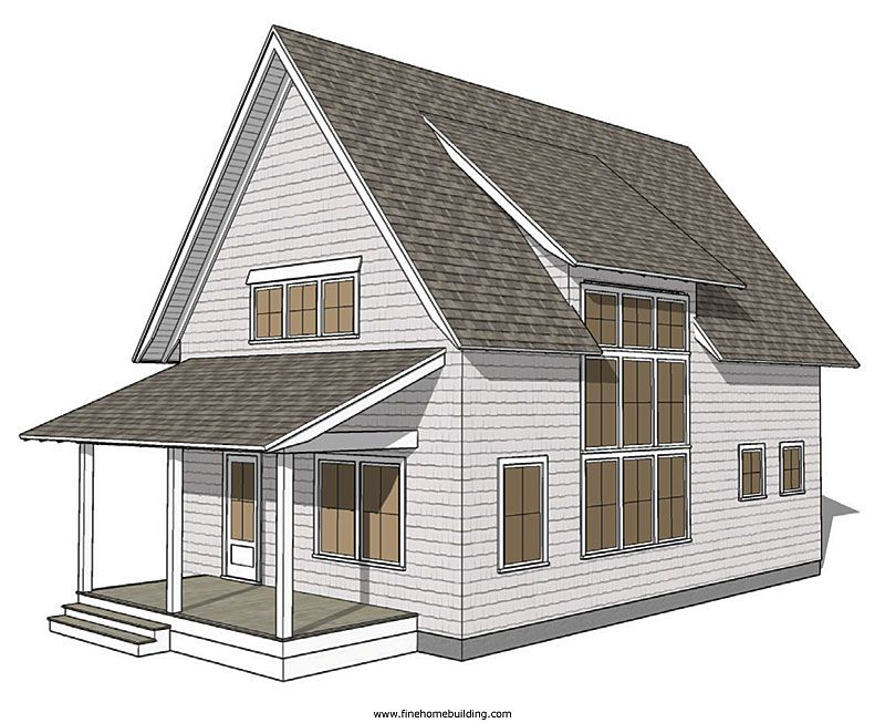 Flush Shed Dormer example Shed dormer, Building a house