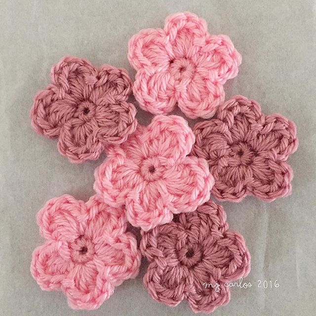 Crochet Flowers Tutorial And Video Crochet Pinterest Crochet