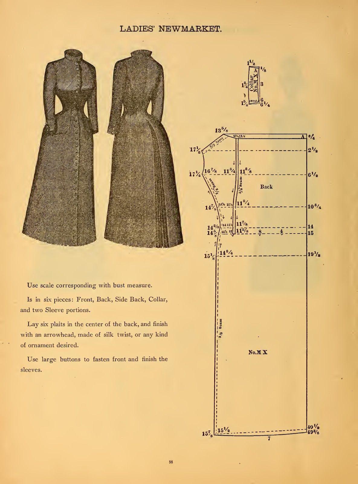 O que nós fizemos quando o poder saiu (Costura Em Walden): Newmarket Ladies 'com Cabo 1888