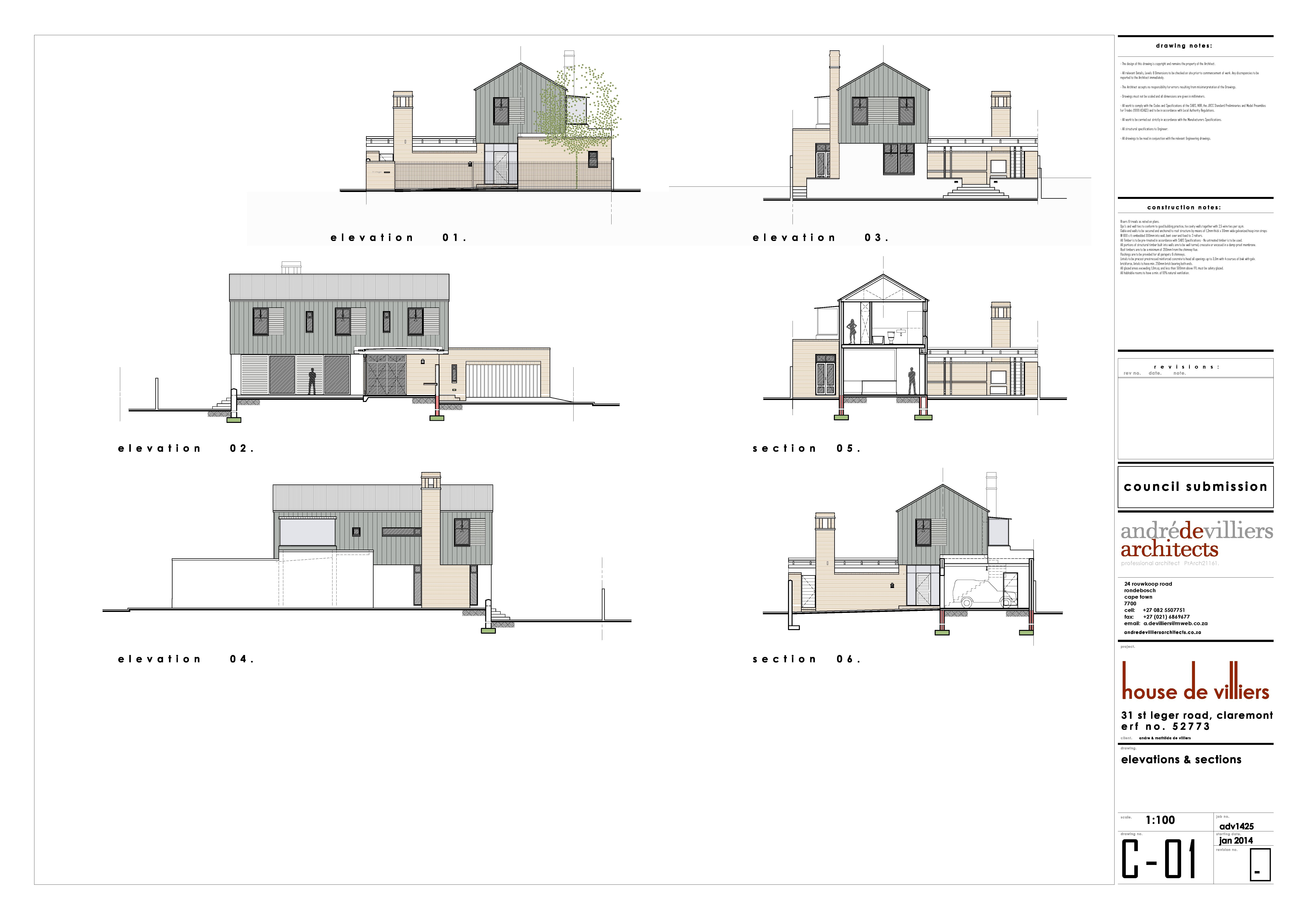 Sketch elevations of our new house, Claremont, Cape Town. Andre de on architect design house, architect model house, architect work house, architect green house, architect studio house, architect blue house,