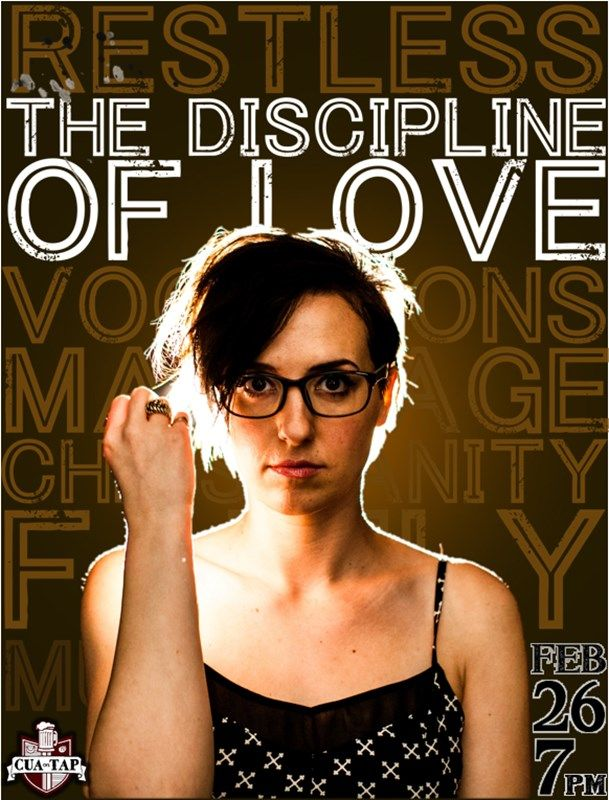 Flyer for CUA on Tap: The Discipline of Love with Audrey Assad