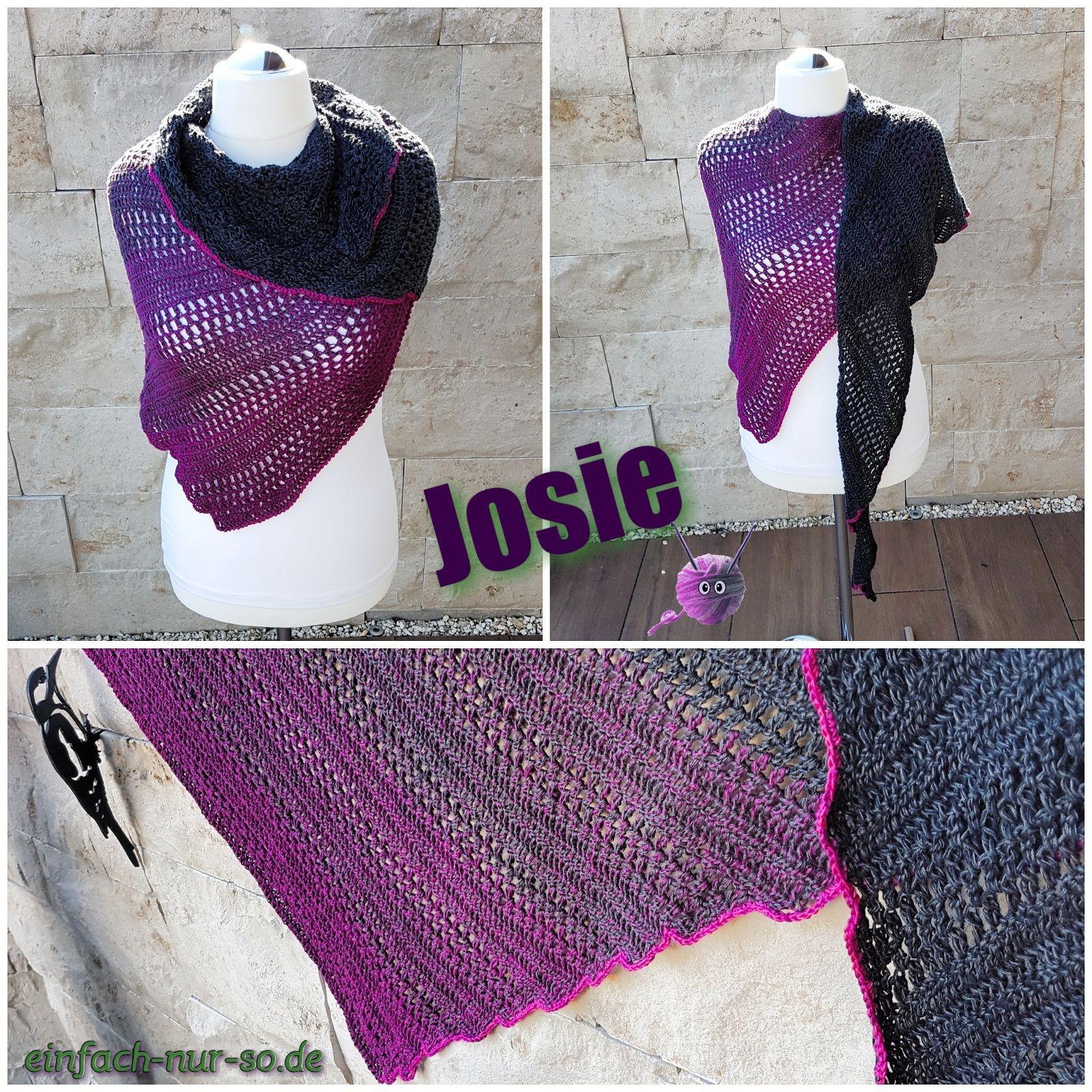 Zackenschal Josie | Crochet shawl, Shawl and Crochet