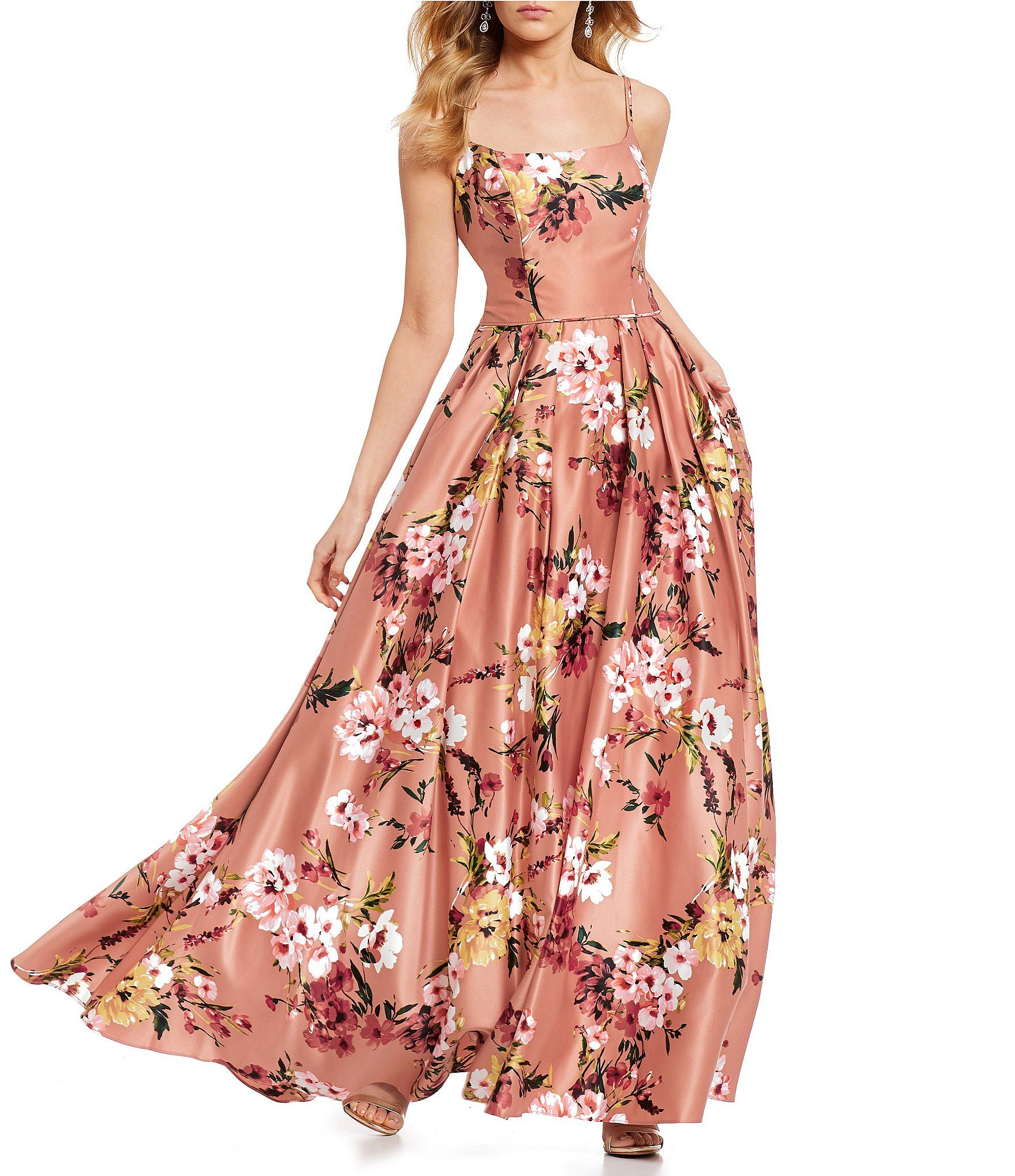 70f5ab99acc Shop for Blondie Nites Floral Print X-Back Ball Gown at Dillards.com. Visit  Dillards.com to find clothing