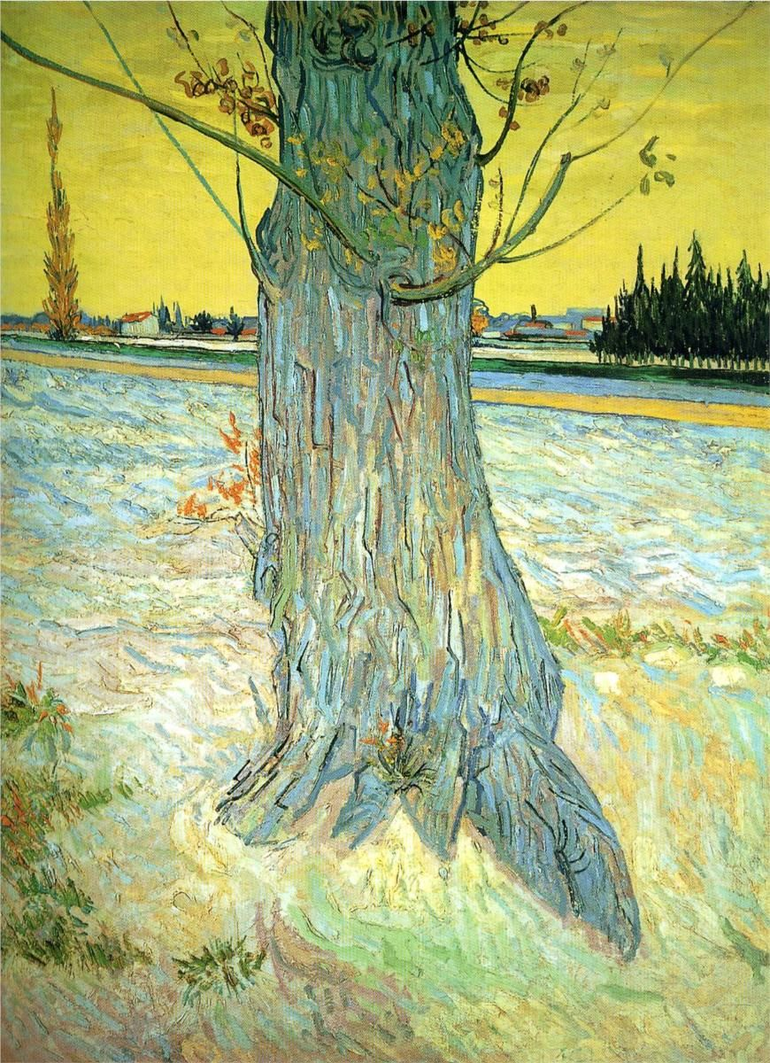 Vincent van Gogh, Trunk of an Old Yew Tree, 1888. Helly Nahmad Gallery, London