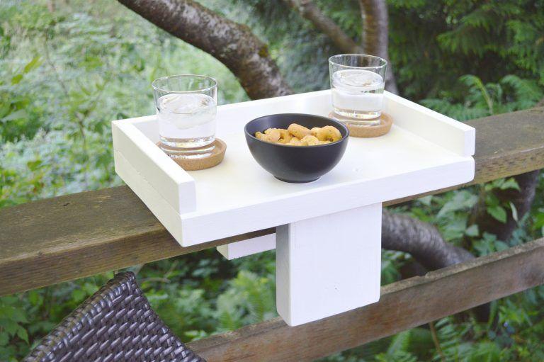 Diy Balkon Bar Holztisch Fur Das Gelander Balkon Bar Tisch
