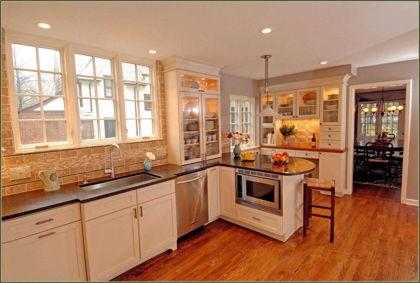 2018 Kitchen Color Ideas with Maple Cabinets - Kitchen ... on Countertop Colors For Maple Cabinets  id=68508