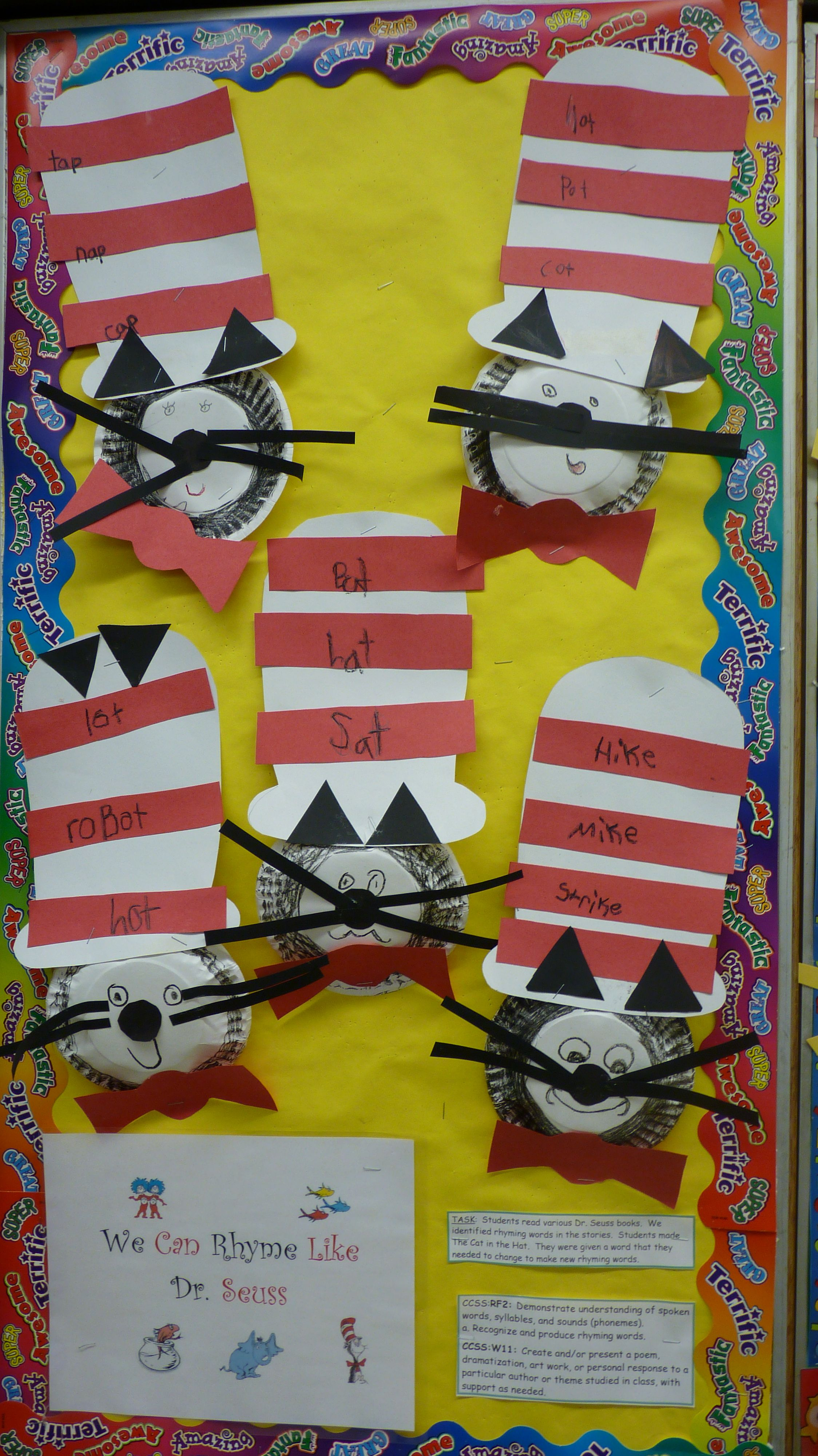 Rhyming Words With Cat In The Hat