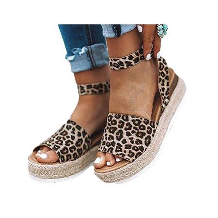 Womens Platform Flip Flops Cork Footbed