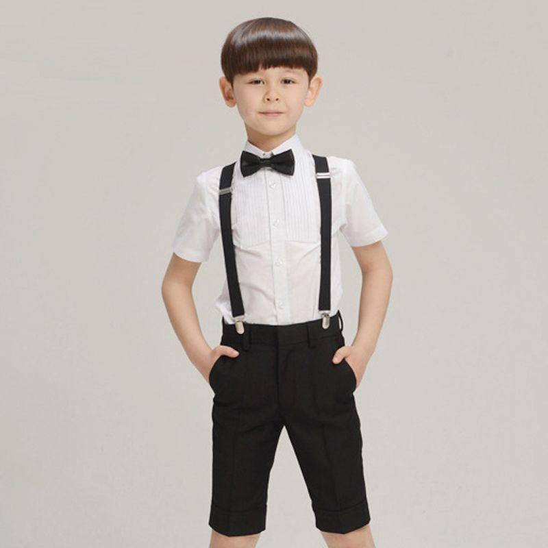 Click to Buy << 2017 Cotton Child Boys Wedding Shorts Kids Prom ...